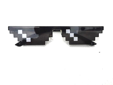 Men's Thug Life Sunglasses Plus Size Polygonal 8 Bits Style Pixel Nose Pad