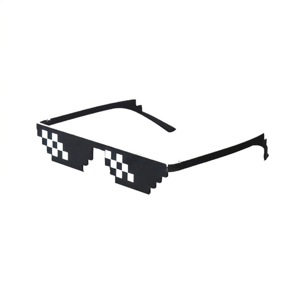 2017 New Deal With It Sunglasses Men Thug Life Sun Glasses Hot Sell Plus Size Polygonal 8 Bits Style Pixel Nose Pad