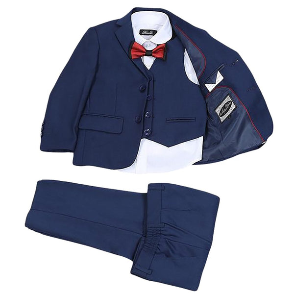 Nimble Boys Suits for Weddings New Arrival Solid Navy Blue Boys Wedding Suit Formal Boy Kids Suits Blazer