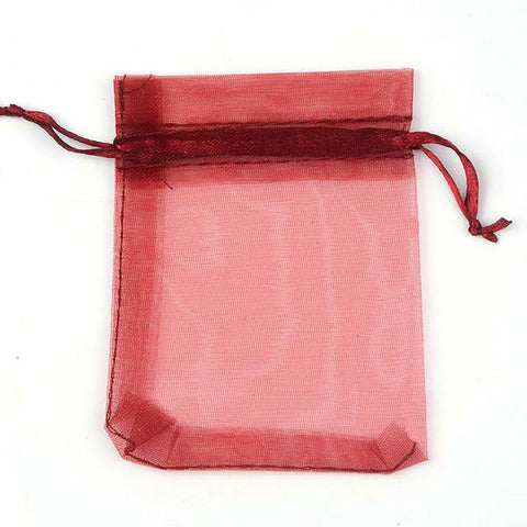 24 Colors Organza Bags Drawable for Gift Jewerly Packaging Wedding Party Decoration 7*9cm 9*12cm 10*15cm 13*18cm 50pcs/set