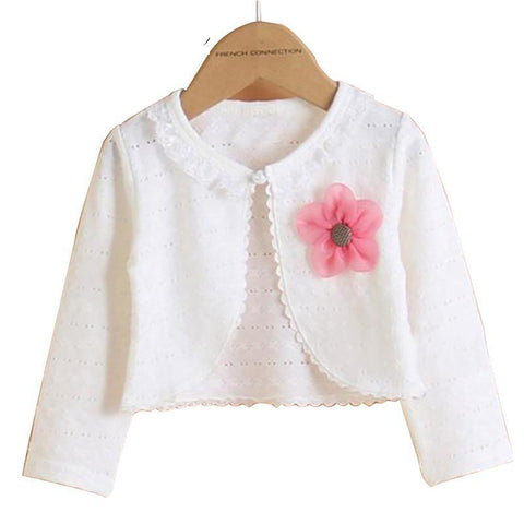 Hot Fashion Thin Cotton Cardigan For Girls Full-Sleeve Shrug 2-14T Girl Clothing Sweaters Spring Summer KC-1507