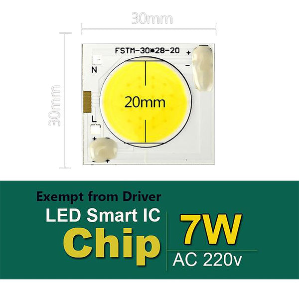 ECO Cat LED Chip 220V COB 50W 30W 20W 10W 7W No Need Driver Input Smart IC High Lumen Bulb Lamp For DIY Floodlight Spotlight