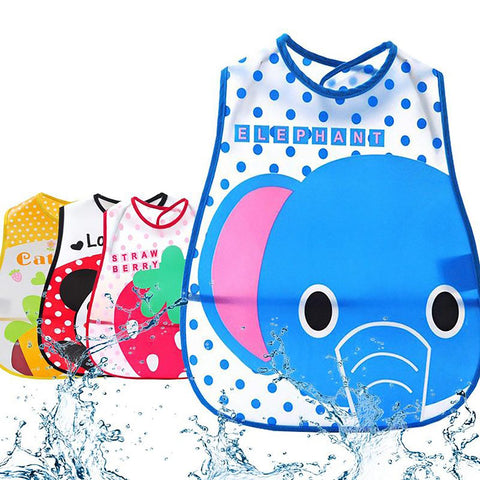 Unisex Baby's Feeding Bib Waterproof Cartoon Design