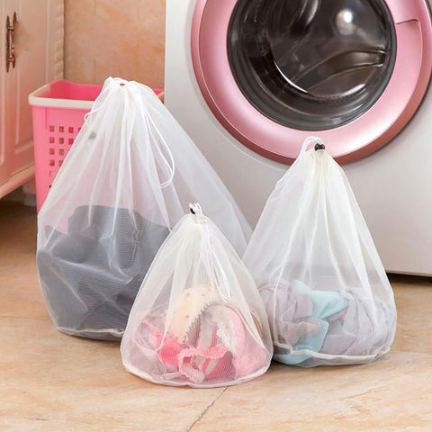 3 Size Drawstring Bra Underwear Products Laundry Bags Baskets Mesh Bag Household Cleaning Tools Accessories Wash Care