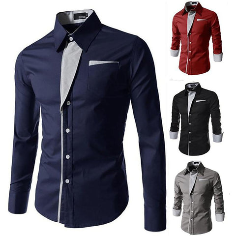 2017 New Arrived Fashion Striped Shirts Mens Casual Brand Quality Luxury Tuxedo Office Slim Fit Loog Sleeved Men Shirt