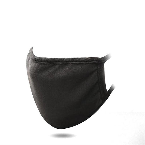 Face Black Mouth Mask Cotton Cute PM2.5 Anti Haze Dust Nose Filter Windproof Muffle Bacteria Flu Fabric Cloth Z4