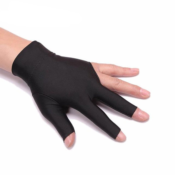 Agbistue 1pc Comfortable Spandex Snooker Dedicated High-grade Flexible Non-slip Exposed Three Fingers Gloves Billiard Accesso