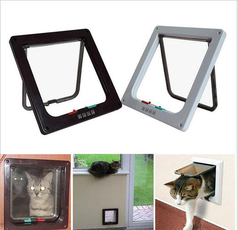 Pet's Door Gates Lockable Safe Flap 3 Size