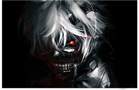 Tokyo Ghoul Cosplay Mask Anime Cosplay Kaneki Ken with Wigs Hair Halloween Party Mask