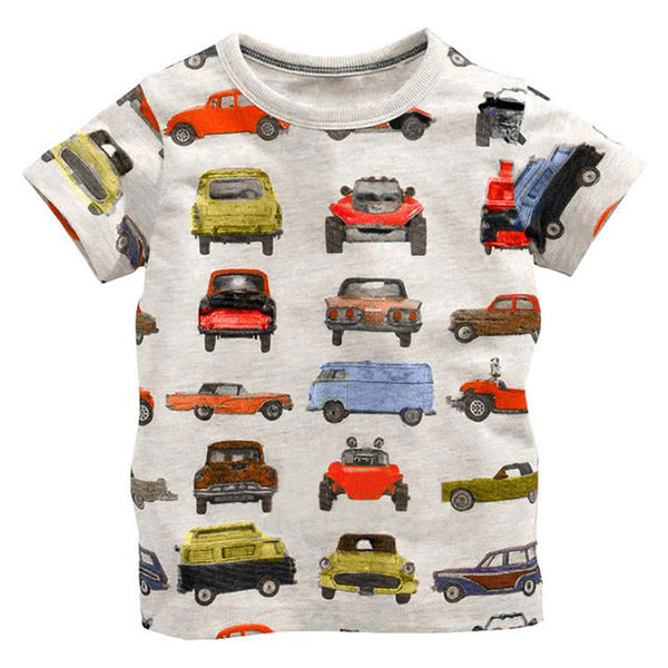 Unisex Baby's 18M-6Y Summer T-shirt Cotton Cartoon Style