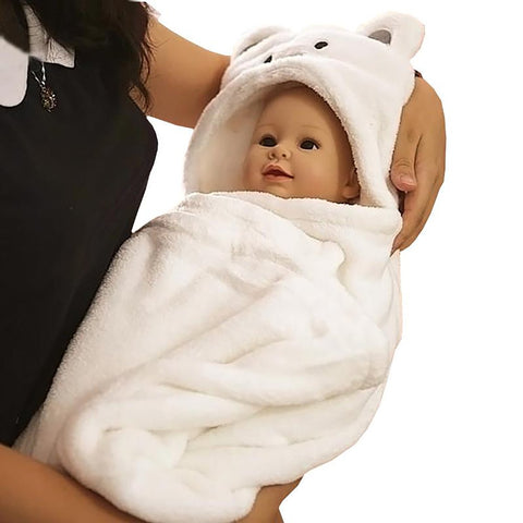 Unisex Babyies Bear Robes Seasonal Animal Theme Bathrobes Cotton Novelty Pajamas