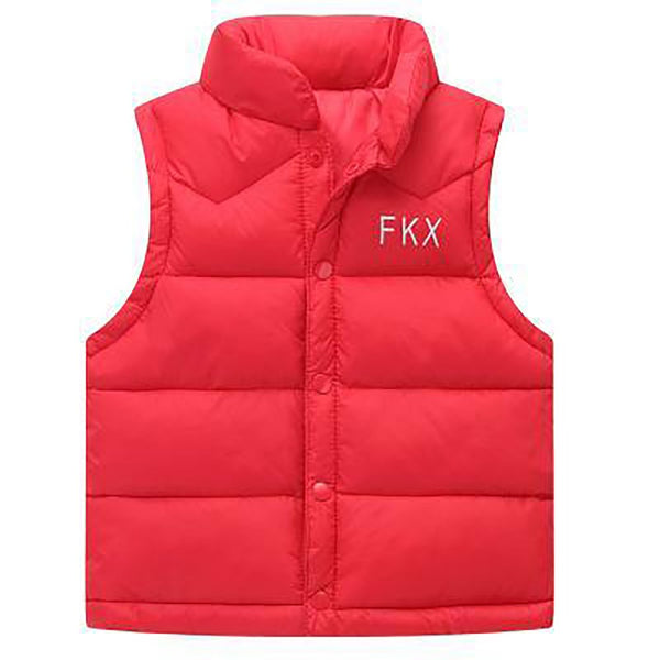 Unisex Kid's Single Breasted Jacket Light Cotton Waistcoat Vest