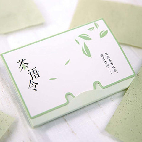 100sheets/pack Tissue Papers Green Tea Smell Makeup Cleansing Oil Absorbing Face Paper Absorb Blotting Facial Cleanser Tool