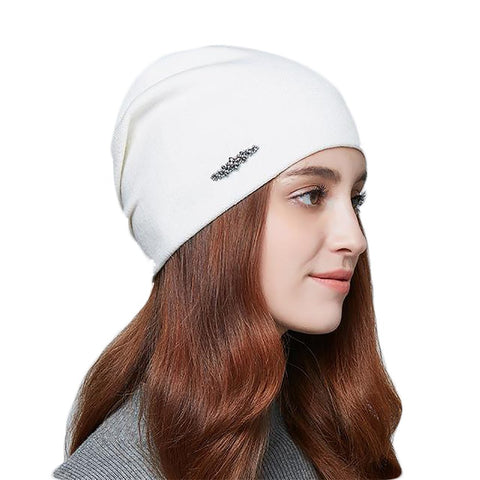 Women's Knitted Hat Rhinestones Wool Cashmere Warm Winter Autumn Gravity Falls