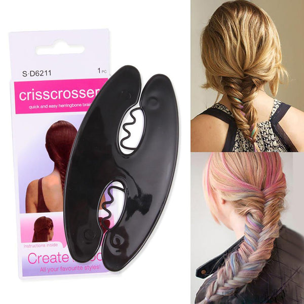 Women's Hair Twist Bun Styling French Brading Tool Wave Roller Maker DIY