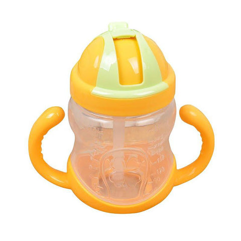 Unisex's Kids Mini Drinking Cup With Handles Straw Learn Feeding Drinking