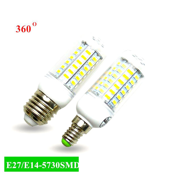 Super LED Bulb E27 E14 SMD 5730 Lamp 24 36 48 56 69leds 220V Led Lampada Corn Light Chandelier Lights for Home