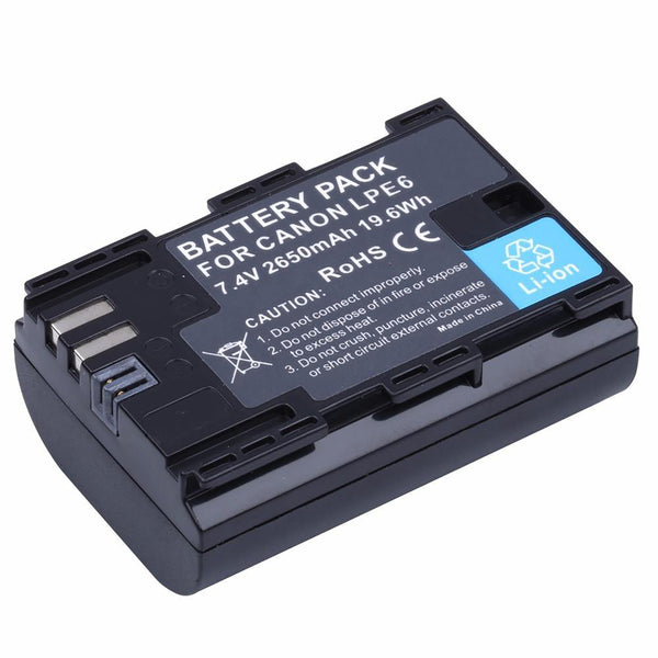 PROBTY 1PCS 2650mAh LP-E6 LP E6 LP-E6N Camera Battery For Canon EOS 5DS 5D Mark II III 6D 7D 60D 60Da 70D 80D DSLR 5DSR