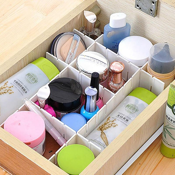 Plastic Drawer Organizer 2 pcs Household Storage DIY Divider Underwear Separator
