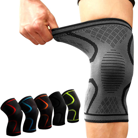 Knee Support Compression Pad Sleeve Rlastic Nylon for Fitness Running Cycling Sport Basketball Volleyball