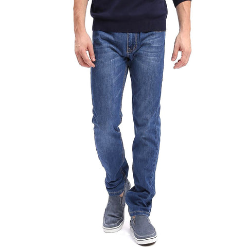 Men's Casual Jeans Thin Style Straight Leg Plus Size Basic