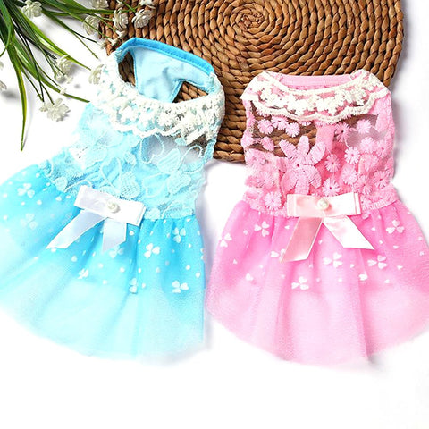 Pet's Princess Dress Summer Spring Small Breathable Wedding