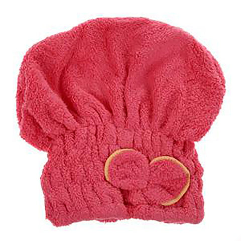 Women's Hair Wrap Towel Solid Quick Dry Microfiber