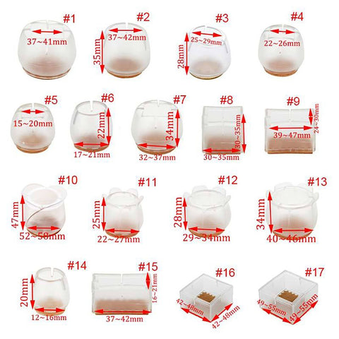 Furniture Feet Pads Silicone Wood Floor Protectors Rectangle/Square Shape 10pcs/lot