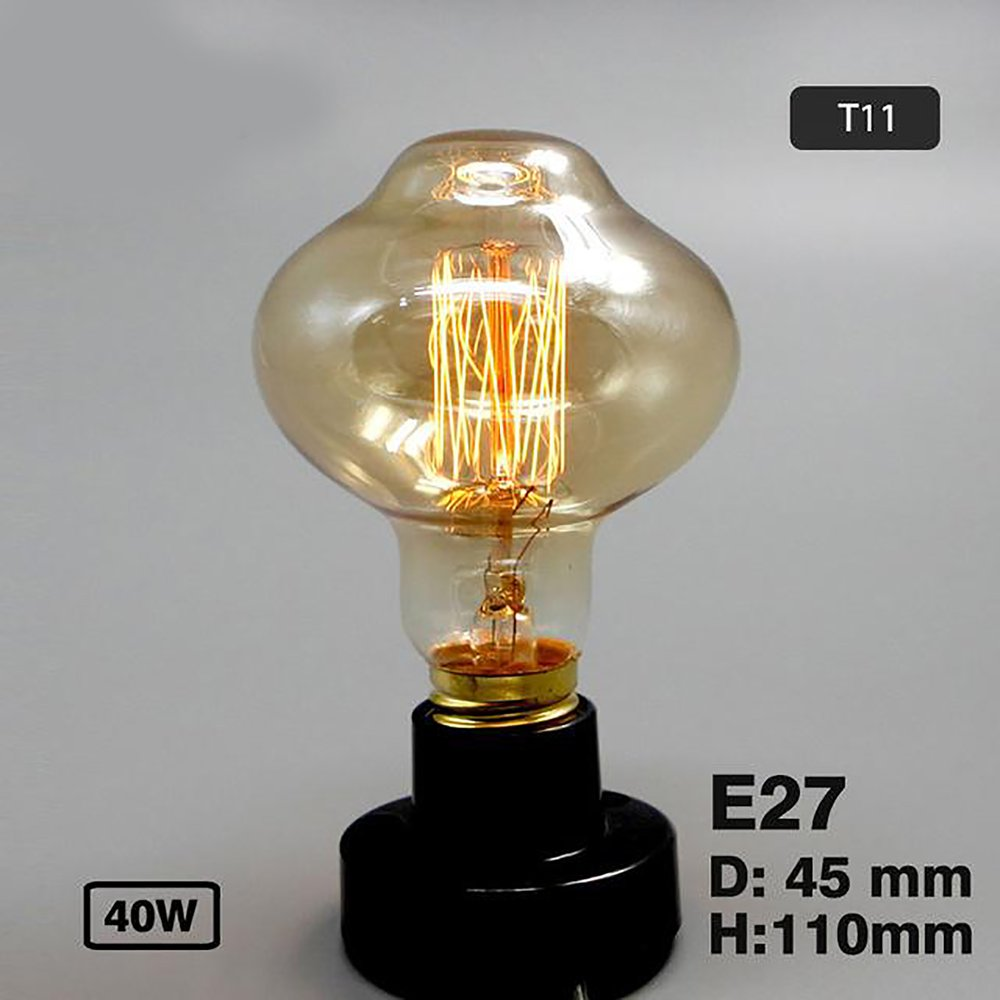 edison bulb incandescent lamp e27 220v wedding vintage