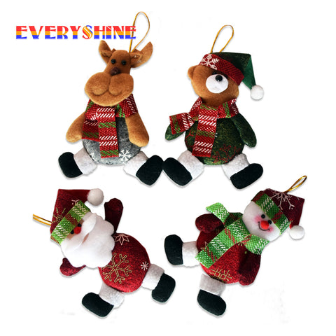 5pcs/lot New Xmas Gifts Christmas Tree Hanging Ornaments Santa Claus Pendants Drop Decorations for Home Length 11cm SD342