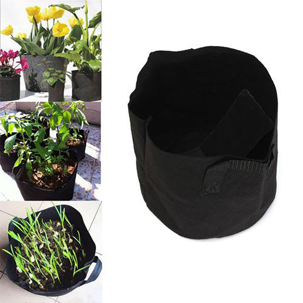 Round Grow Bags 1-5 Gallon Aeration Fabric for Plant Bonsai Root Home Garden
