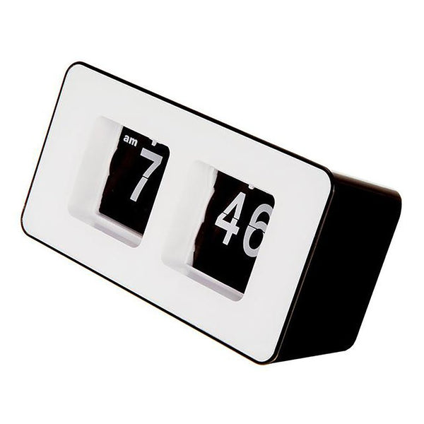 Table Desk Clock Retro Autoflip Classic Stylish Modern Over Internal Gear Operated for Home