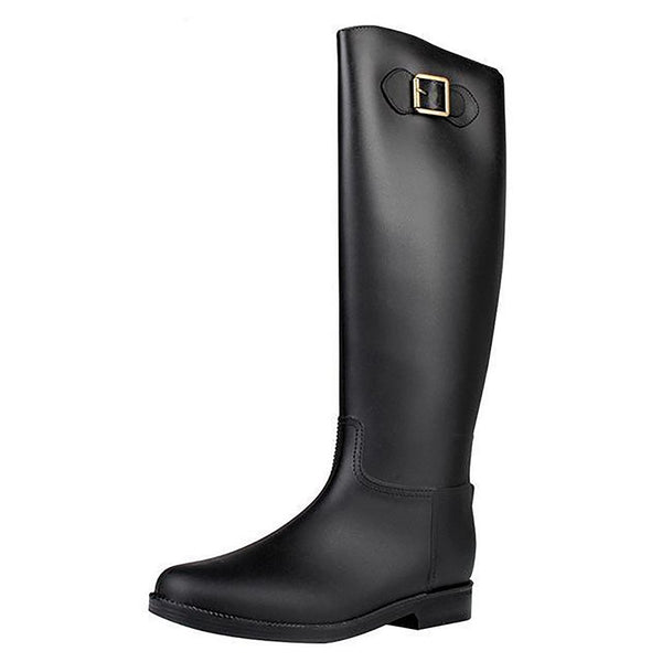 Women's Rubber Boots Knee High Waterproof PVC Knight Riding
