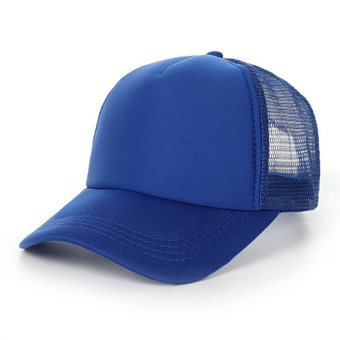 Unisex Adult's Baseball Cap Cotton Solid Color Bone Mesh Summer