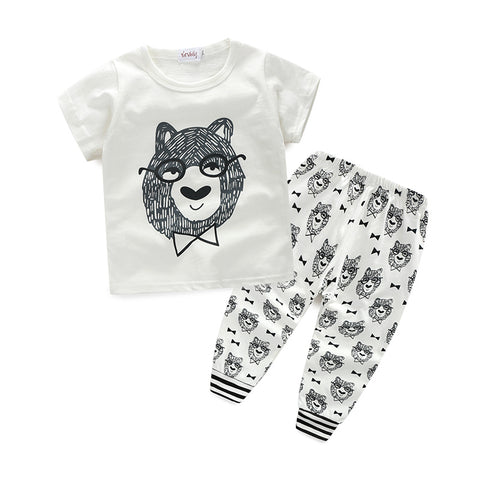 Baby Boy's Colthes Set Pant and Shirt Style Letter Printed Casual