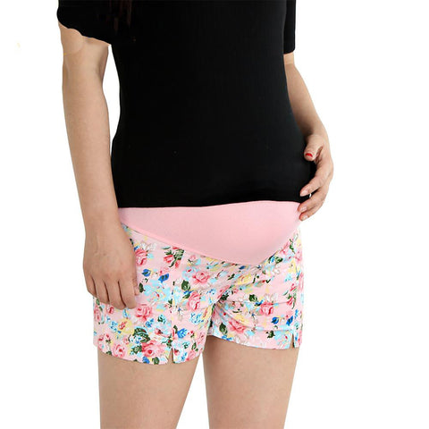 Women's Maternity Shorts Flower Style Ultra Thin Summer
