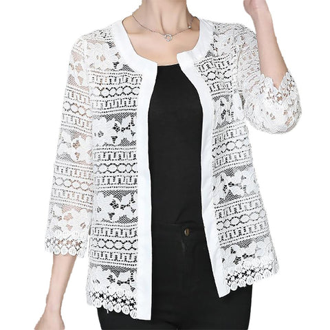 Women's Cardigan Lace Plus Sizes Summer Crochet