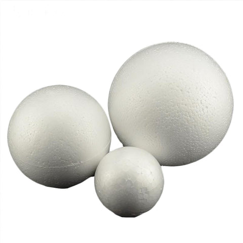 White Styrofoam Ball Modelling Polystyrene Craft for DIY Christmas Party Decoration Supplies 80mm 5pcs/lot