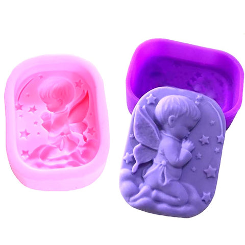 Hot Random Color Hand Made Soap Mold Mould Silicone Little Angel Shape Crafts Making Tools ZH01583