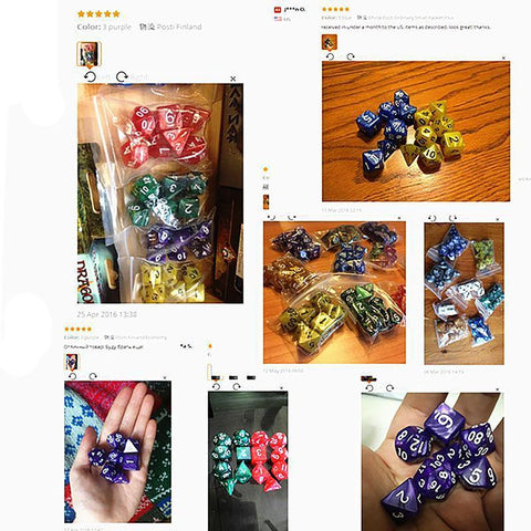 Multi-sided Dice Set with Marble Effect D4 D6 D8 D10 D12 D20 Dungeon Dragons Rpg Game 7 pcs/set