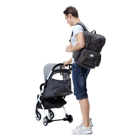 Baby's Diaper Bag Multi-function Travel Backpack Care Large Capacity Stylish Durable for Fathers