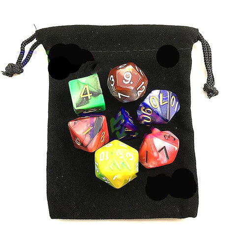 Dice Set with Nebula Effect Poker Polyhedral 7pcs/set