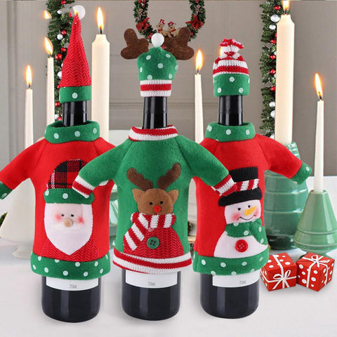 Wine Bottle Cover Decoration Supplies for Party New Years Christmas Party Home