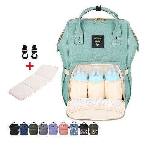 New Upgraded Sunveno Fashion Mummy Maternity Nappy Bag Large Capacity Baby Travel Backpack Designer Nursing Care