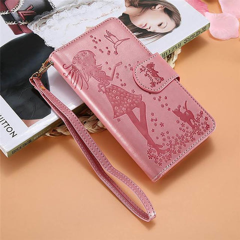 Women's Wallet Phone Case For IPhone 6 7 6S 8 5 5S SE Leather Cover Plus Mirror Accessories