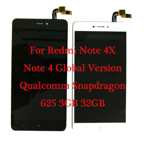"5.5"" For Xiaomi Redmi Note 4X Qualcomm Snapdragon 625 3GB 32GB LCD Display + Touch Screen Digitizer Redmi 4 Global Version"