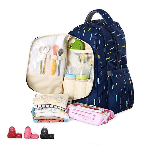 Baby's Diaper Bag Travel Backpack Organizer 2 in 1 for Mothers
