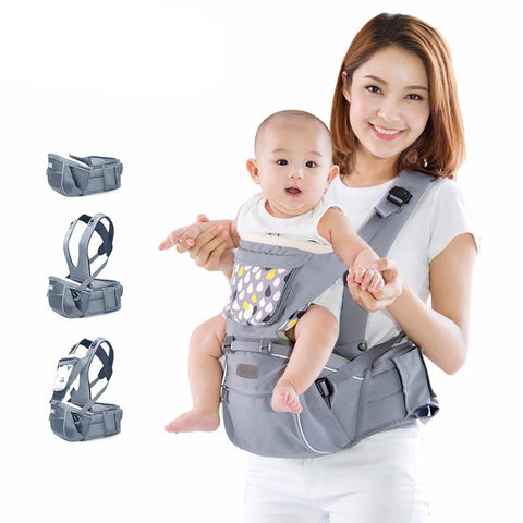 SUNVENO New Design Infant Toddler Ergonomic Baby Carrier with Hipseat For Kids 0-36M
