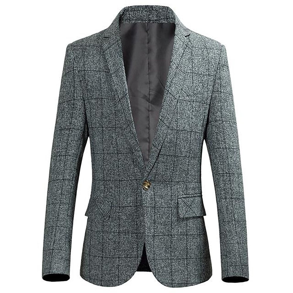 8ba96f08d816 Material: Cotton,Polyester Clothing Length: Regular Sleeve Length(cm): Full Closure  Type: Single Breasted Style: Smart Casual Gender: Men Item Type: Blazers