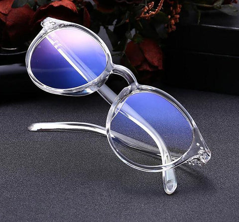 Women's Retro Myopia Glasses 100~400 Degrees Anti-blue rays Lightweight Eyeglass